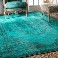 nuLOOM Vintage Inspired Overdyed Rug (8' x 10') | Overstock.com Shopping - The Best Deals on 7x9 - 10x14 Rugs