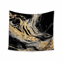 Gold Marble - Black Gold Modern Digital Wall Tapestry