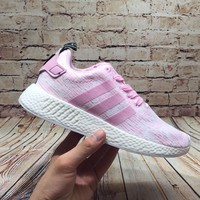 Best Online Sale Adidas NMD R2 Wonder Pink BY9315 Boost Sport Running Shoes Classic Casual Shoes Sneakers