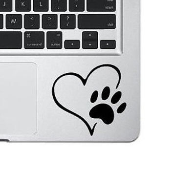 Love Pet Decal, Dog Paw Love Sticker,  Heart Love Decal, Laptop Sticker, Phone Decal, Laptop Decal, MacBook Decal, Vinyl Sticker