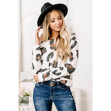 Time Standing Still Animal Printed Top