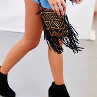 Ecote Jasmina Fringe Mini Crossbody Bag- Black One