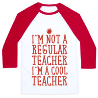 COOL TEACHER BASEBALL SHIRT