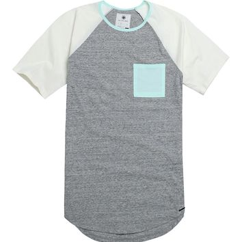 On The Byas Carlo Raglan T-Shirt - Mens Tee - White