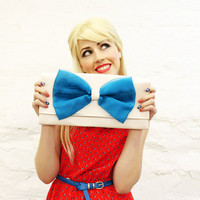 Turquoise Organza Bow Clutch READY TO SHIP