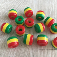 Free Shipping 30Pcs/Lot multi coloured hair braid dread dreadlock Beads cuffs clips approx 5.8mm hole