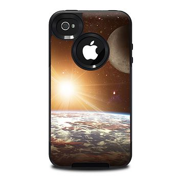 The Earth, Moon and Sun Space Scene Skin for the iPhone 4-4s OtterBox Commuter Case