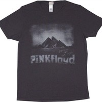 This vintage styled Pink Floyd tee features another great design from Junk Food. This shirt is a black wash color with a faded white print | Great vintage band shirts available from OldSchoolTees.com