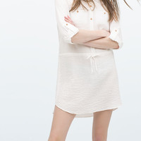 Tunic with shirt-style collar