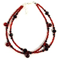 Red and Black Anklet