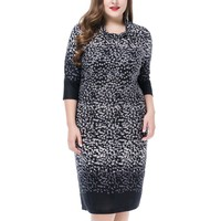 Women's Plus Size Cowl Neck Dress