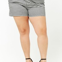 Plus Size Gingham Shorts