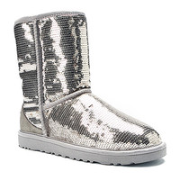 Women's   UGG® Australia Classic Sparkles - Silver - FREE SHIPPING at Shoes.com