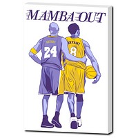 "Kobe Bryant ""Mamba Out"" 24""x 16"" Canvas"