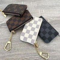 Louis Vuitton LV Hot Sale Key Pouch Clutch Bag Coin Purse Small Wallet