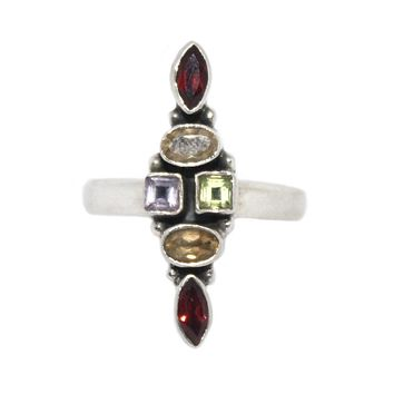 Multi stone Sterling Silver Ring