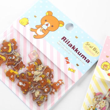 Kawaii Rilakkuma Stickers, Planner stickers, Cute Stickers