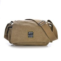 Vere Gloria Male Female Fashion Outdoor Travel Canvas Shoulder Bags Hiking Travel Cross Body Bag