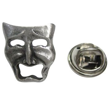Textured Drama Sad Mask Lapel Pin