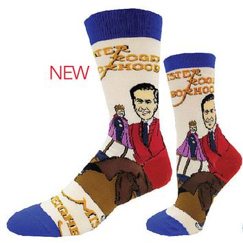 Mr. Rogers and Friday - Mr. Rogers Crew Socks