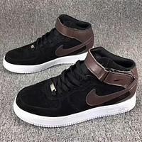 Nike air Force 1 MID 07 Men Trending Casual Sneakers Running Sports Shoes Coffee G-CSXY