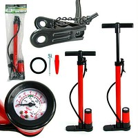 Stalwart  Hand Bicycle Pump with Built-in Pressure Ga