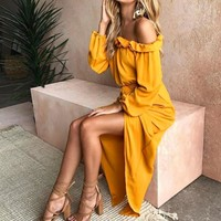 Reese off shoulder maxi dress