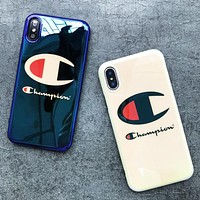 Champion Fashion New Logo Letter Print Women Men Protective Case Phone Case