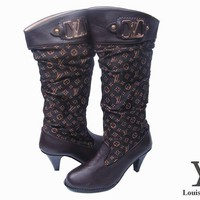 One-nice™ LV Louis Vuitton Fashion Leather High Boot Heels Shoes