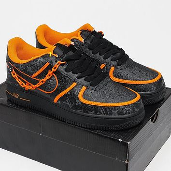 Nike Air Force 1 x LV Louis Vuitton Men's and Women's Sneakers Shoes