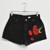 Rose & Star Patched Denim Shorts