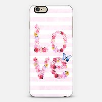 FLORAL LOVE IN PINK iPhone 6 case by Nika Martinez   Casetify