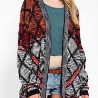 Urban Outfitters - Staring At Stars Diamond Open-Front Cardigan
