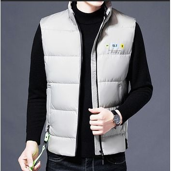 Autumn and winter hot style warm waistcoat vest white duck down vest