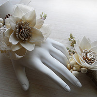 Sola Flower Wrist Corsage and/or Boutonniere, Made to Order.