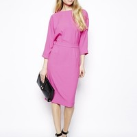 ASOS Pencil Dress In Crepe With Cut Out Back