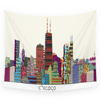 Society6 Chicago Wall Tapestry