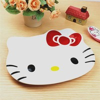1PC Cartoon Hello Kitty Dish Plate Melamine Dinnerware Snack Holder Compote Tray Dish Decoration Plate 2D