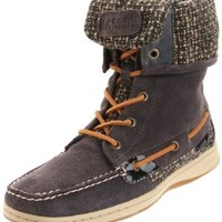 Sperry Top-Sider Women's Ladyfish Lace-Up Boot,Graphite Suede,5 M US