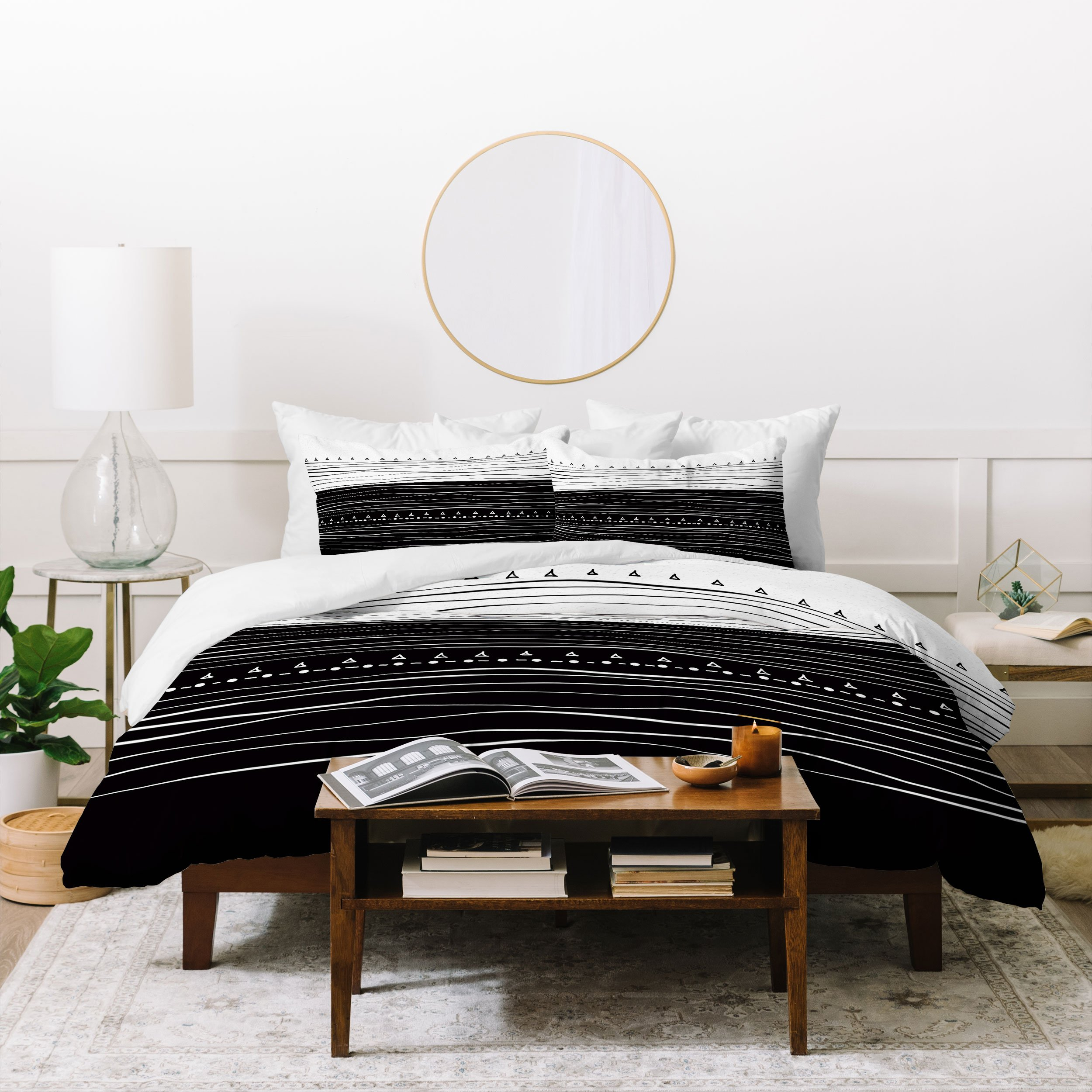 Image of Viviana Gonzalez Black and white collection 01 Duvet Cover