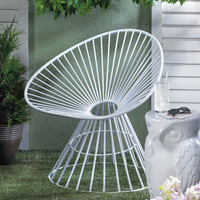 White Patio Lounge Chair