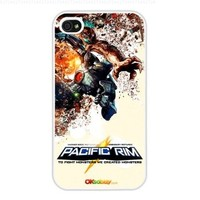 2013 Pacific Rim 4 Poster Modern Design, Hard Case Cover Skin Protector for Iphone 4 4s Iphone4 At & T Sprint Verizon Retail Packing (White Pc + Pearlescent Aluminum) Fs-00254
