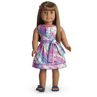 American Girl® Clothing: Plaid Party Dress for Dolls + Charm