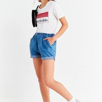 Urban Renewal Remade Pull-On Denim Short   Urban Outfitters