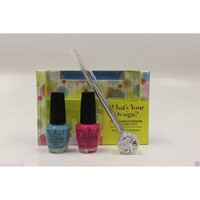 OPI Lacquer - What's Your Design (FREE NAIL DESIGN TOOLS)
