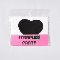 Can You Keep A Secret? Strapless Thong Panty - Black