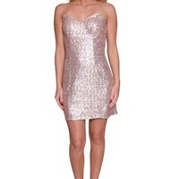 Shimmering Gold V-neck Cocktail Dress
