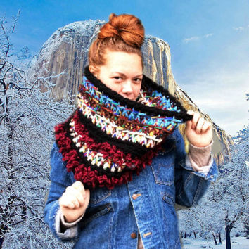 Chunky Cowl Circle Scarf. / One of a kind / Out of This World! / Ready to Ship!
