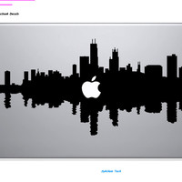 Chicago City Skyline for apple Sticker Macbook Skin Air 11 12 13 Pro 13 15 17 Retina Decal Laptop Wall Car Vinyl Logo