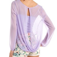 Double-Surplice Chiffon Top: Charlotte Russe
